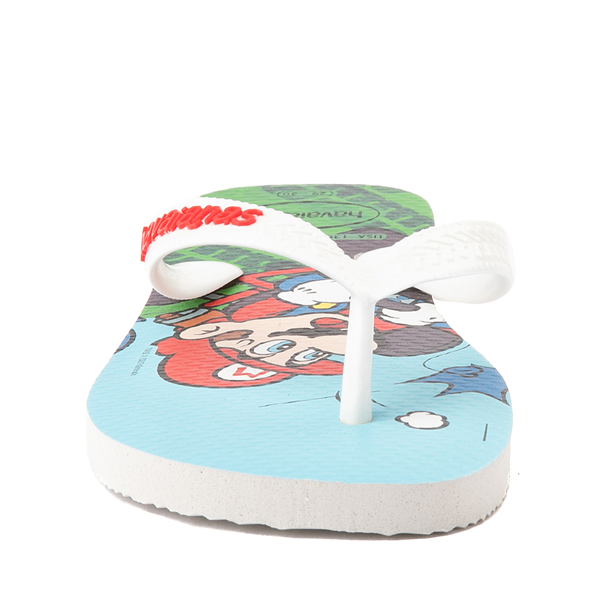 alternate view Havaianas Super Mario Kart Sandal - Toddler / Little Kid - WhiteALT4