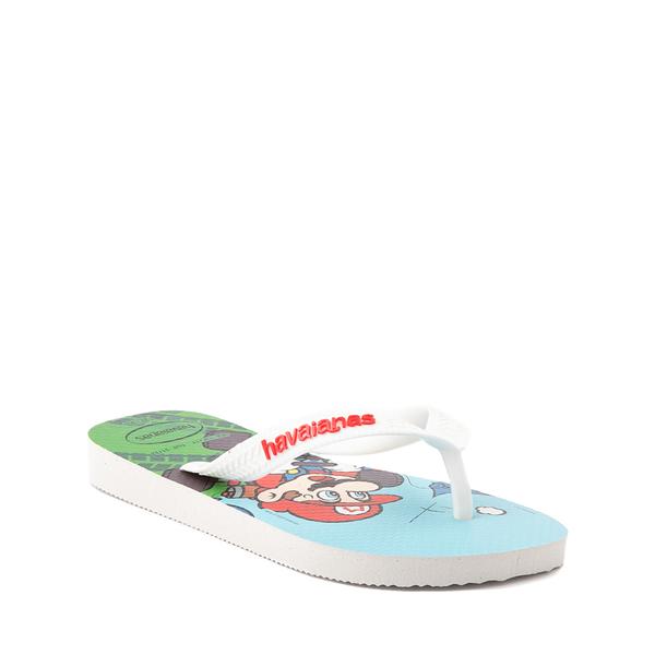 alternate view Havaianas Super Mario Kart Sandal - Toddler / Little Kid - WhiteALT5