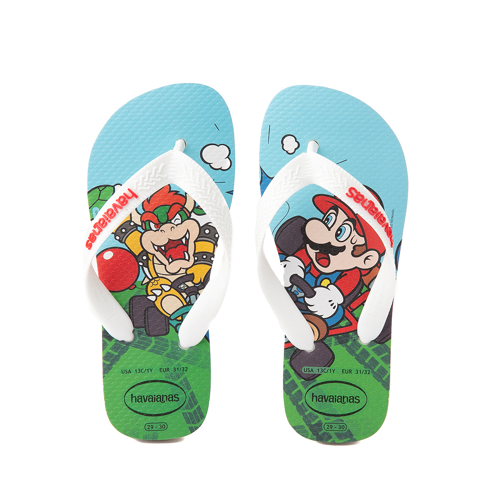 Havaianas Super Mario Kart Sandal - Toddler / Little Kid - White