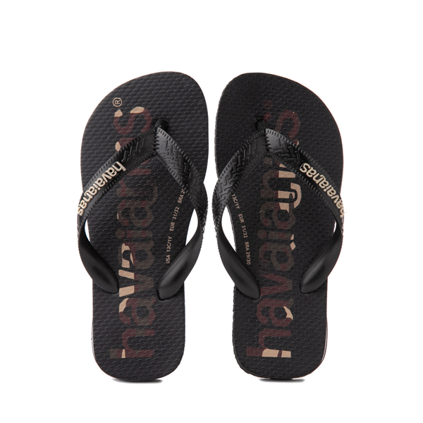 Main view of Havaianas Top Logomania Sandal - Toddler / Little Kid - Black / Camo