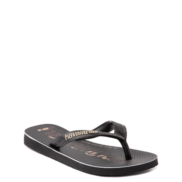 alternate view Havaianas Top Logomania Sandal - Toddler / Little Kid - Black / CamoALT1B