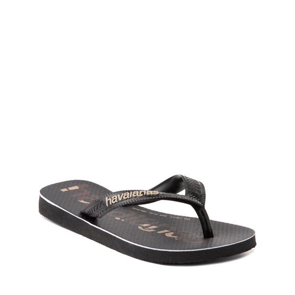 alternate view Havaianas Top Logomania Sandal - Toddler / Little Kid - Black / CamoALT5