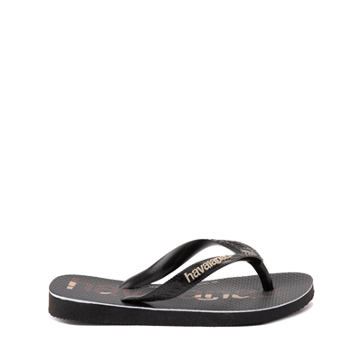 Alternate view of Havaianas Top Logomania Sandal - Toddler / Little Kid - Black / Camo