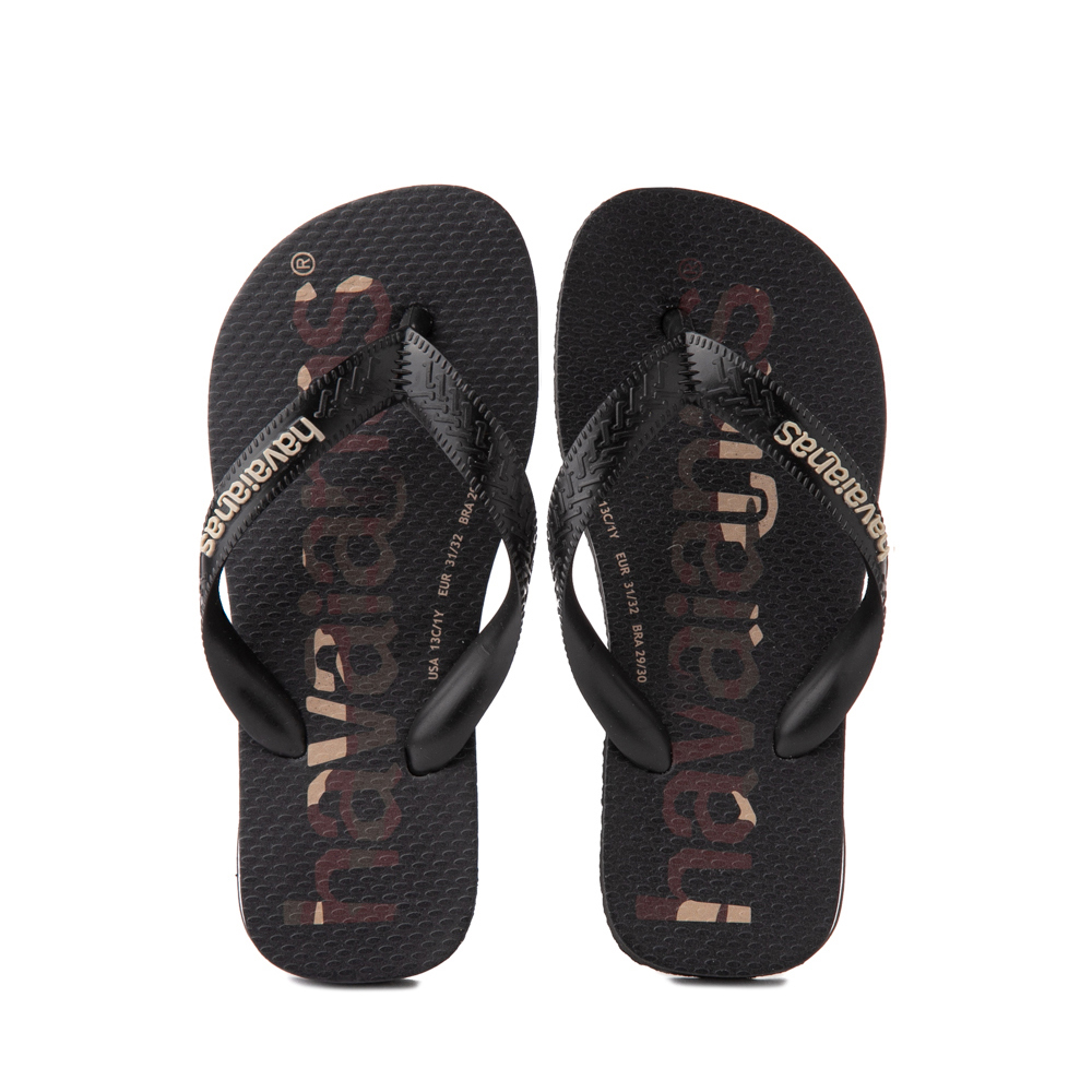 Havaianas Top Logomania Sandal - Toddler / Little Kid - Black / Camo