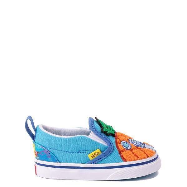 alternate view Vans x SpongeBob SquarePants™ Slip On V 124 Conch St. Skate Shoe - Baby / Toddler - BlueALT1