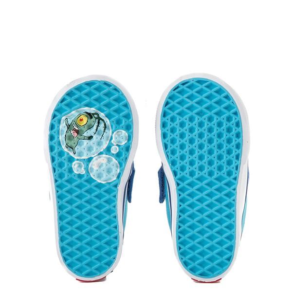 alternate view Vans x SpongeBob SquarePants™ Slip On V 124 Conch St. Skate Shoe - Baby / Toddler - BlueALT3