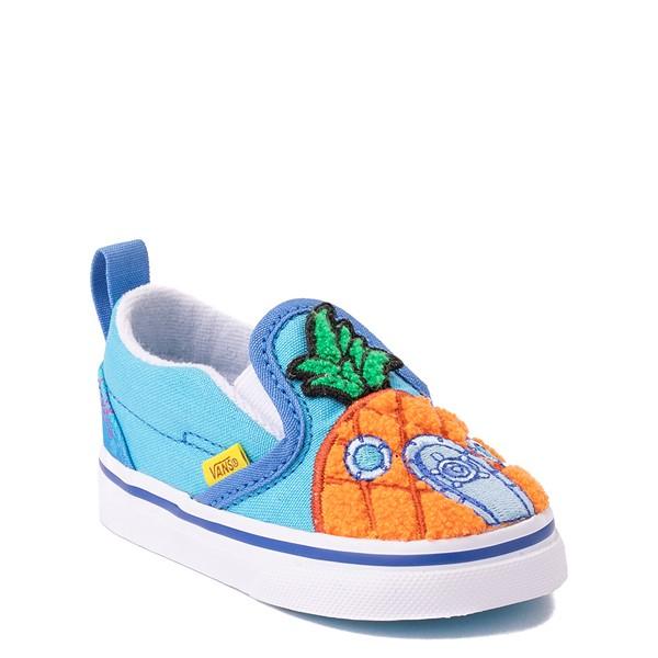 alternate view Vans x SpongeBob SquarePants™ Slip On V 124 Conch St. Skate Shoe - Baby / Toddler - BlueALT5