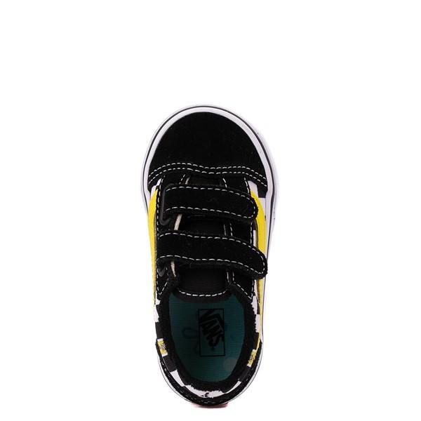 alternate view Vans x SpongeBob SquarePants™ Old Skool V Checkerboard Skate Shoe - Baby / Toddler - BlackALT2