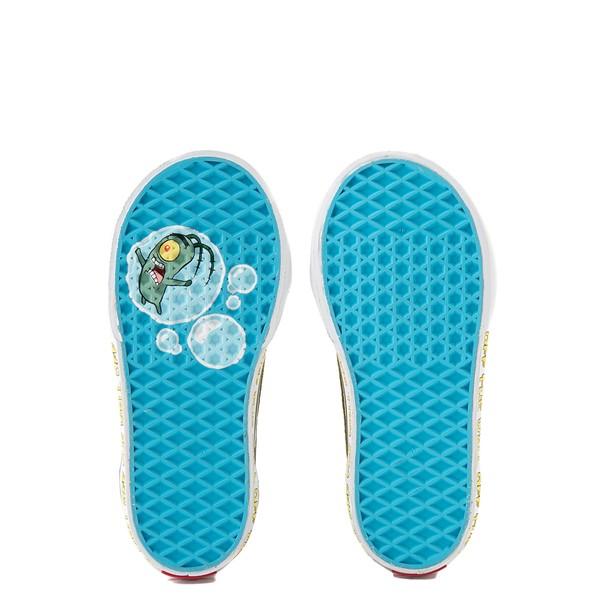 alternate view Vans x SpongeBob SquarePants™ Old Skool V Checkerboard Skate Shoe - Baby / Toddler - BlackALT3