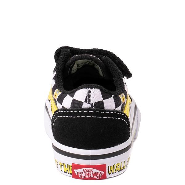 alternate view Vans x SpongeBob SquarePants™ Old Skool V Checkerboard Skate Shoe - Baby / Toddler - BlackALT4
