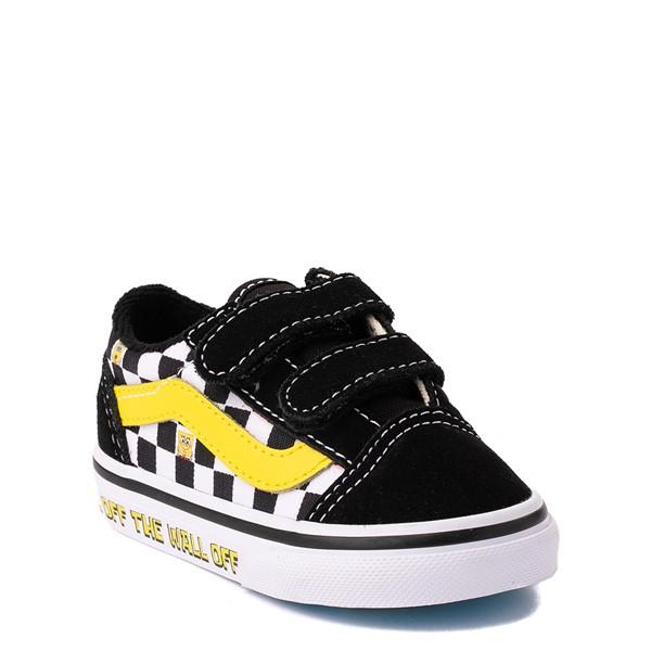 alternate view Vans x SpongeBob SquarePants™ Old Skool V Checkerboard Skate Shoe - Baby / Toddler - BlackALT5