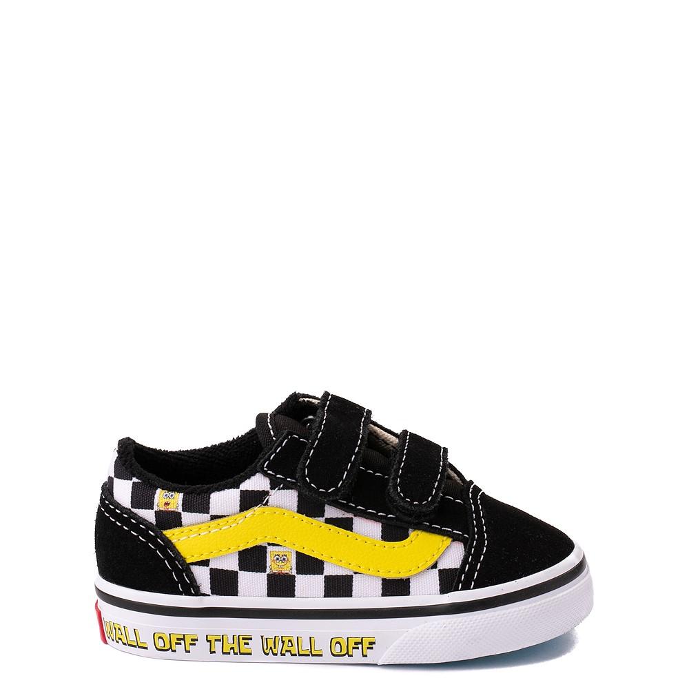 Vans x SpongeBob SquarePants™ Old Skool V Checkerboard Skate Shoe - Baby / Toddler - Black