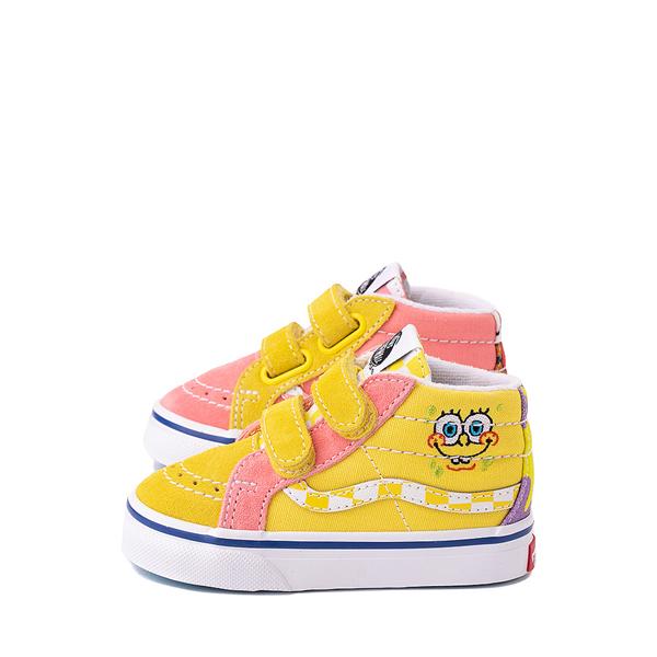 alternate view Vans x SpongeBob SquarePants™ Sk8 Mid Reissue V Best Friends Skate Shoe - Baby / Toddler - Pink / YellowALT1