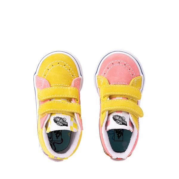 alternate view Vans x SpongeBob SquarePants™ Sk8 Mid Reissue V Best Friends Skate Shoe - Baby / Toddler - Pink / YellowALT2