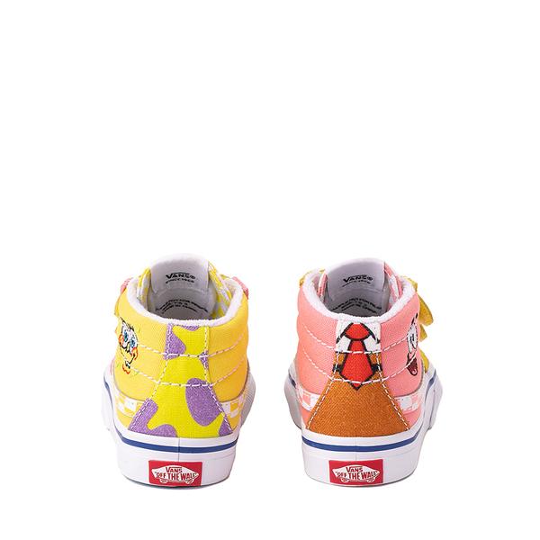 alternate view Vans x SpongeBob SquarePants™ Sk8 Mid Reissue V Best Friends Skate Shoe - Baby / Toddler - Pink / YellowALT4