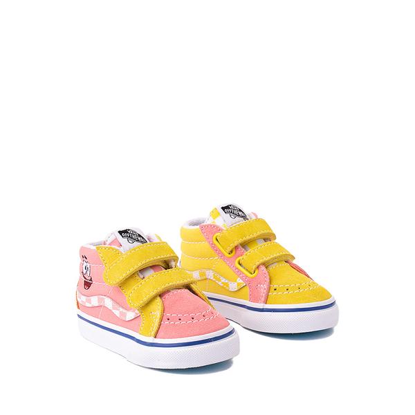 alternate view Vans x SpongeBob SquarePants™ Sk8 Mid Reissue V Best Friends Skate Shoe - Baby / Toddler - Pink / YellowALT5