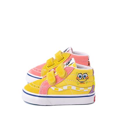 Alternate view of Vans x SpongeBob SquarePants™ Sk8 Mid Reissue V Best Friends Skate Shoe - Baby / Toddler - Pink / Yellow