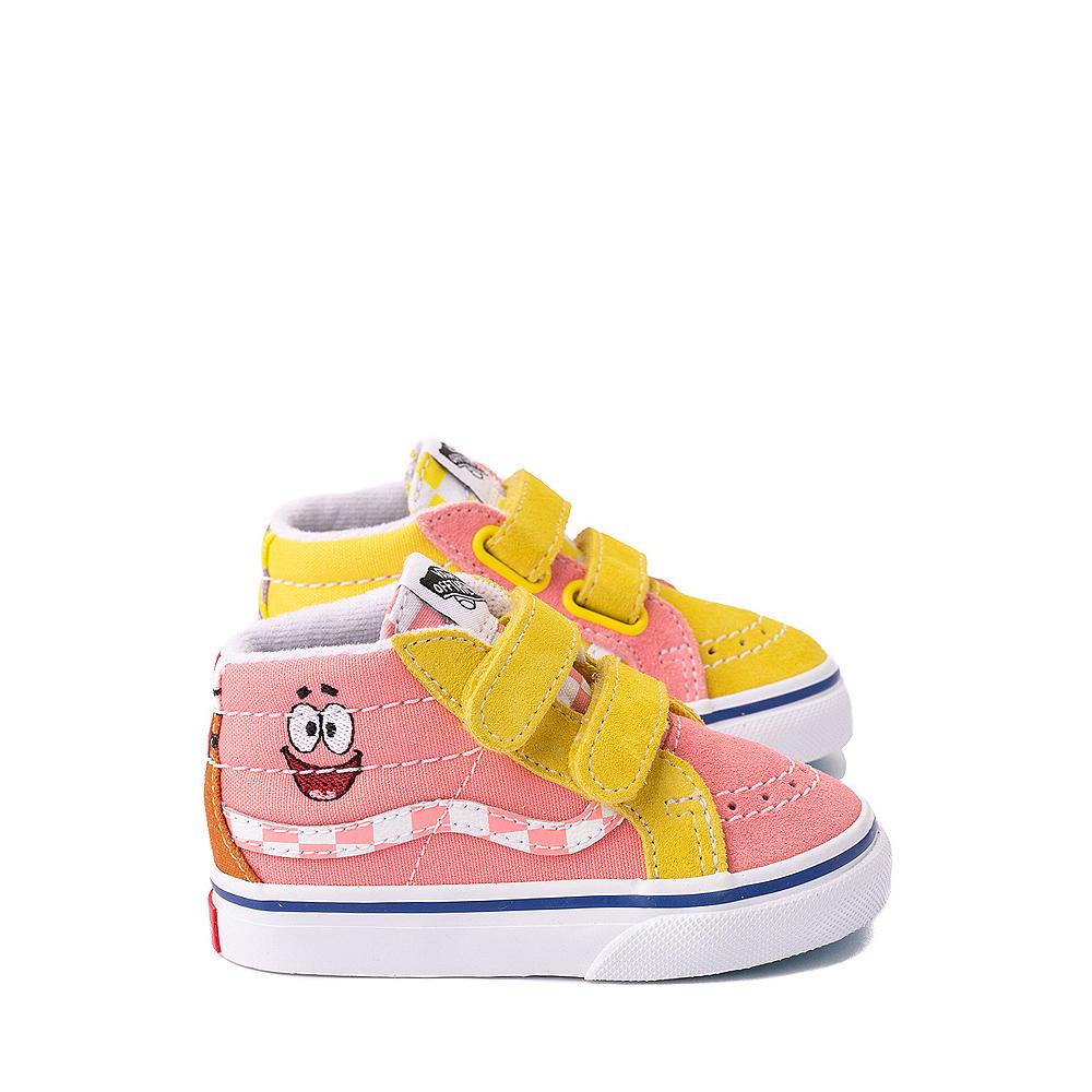 Vans x SpongeBob SquarePants™ Sk8 Mid Reissue V Best Friends Skate Shoe - Baby / Toddler - Pink / Yellow