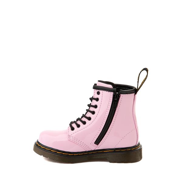 alternate view Dr. Martens 1460 8-Eye Patent Boot - Toddler - Pale PinkALT1