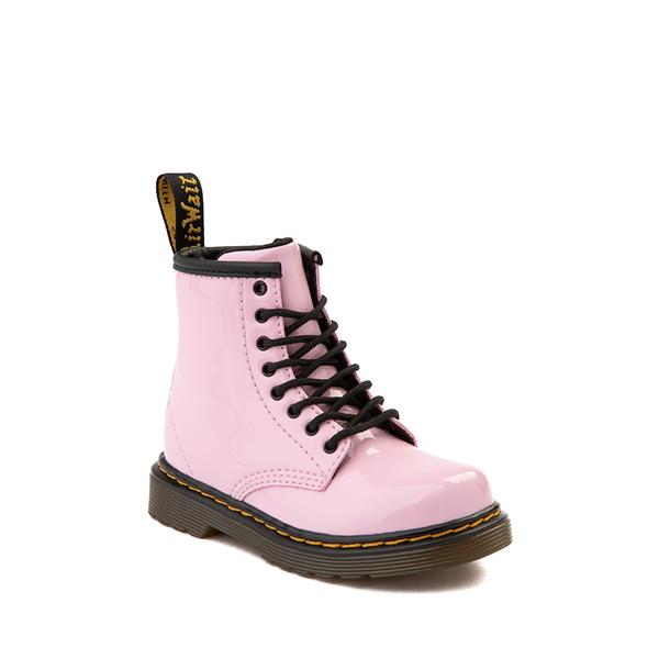 alternate view Dr. Martens 1460 8-Eye Patent Boot - Toddler - Pale PinkALT5