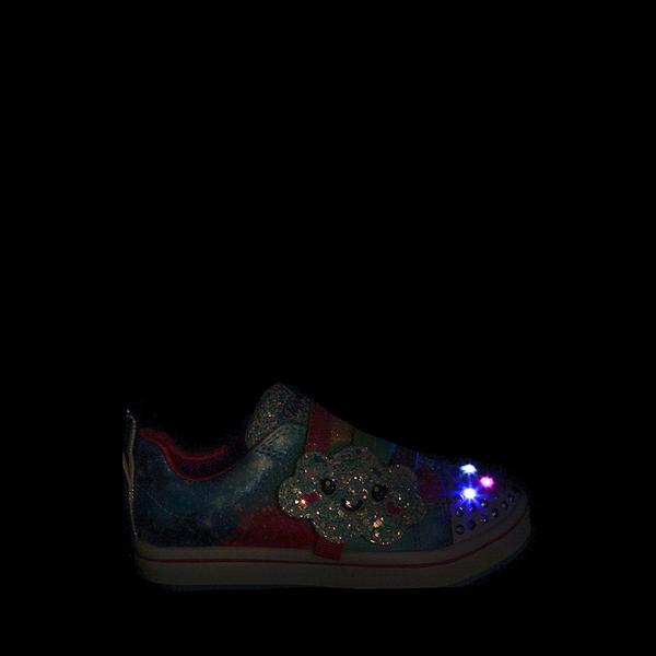 alternate view Skechers Twinkle Toes Sparkle Rays Rainbow Cloud Sneaker - Toddler / Little Kid - MulticolorALT1