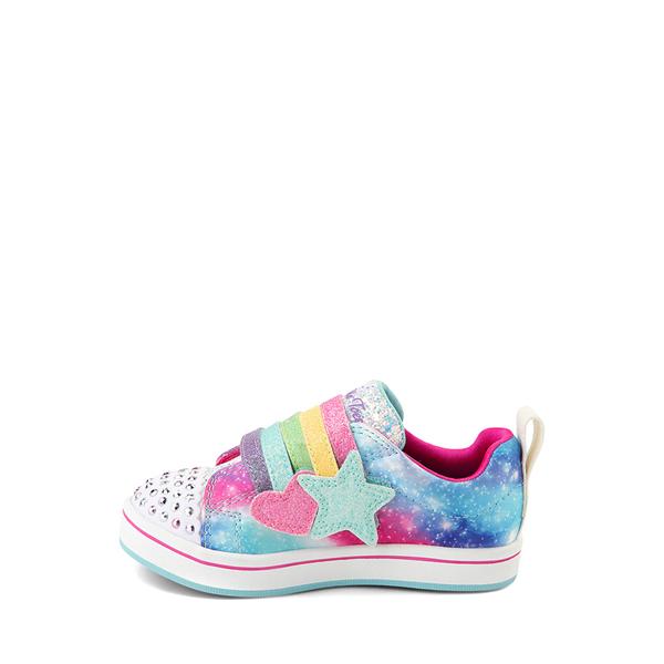 alternate view Skechers Twinkle Toes Sparkle Rays Rainbow Cloud Sneaker - Toddler / Little Kid - MulticolorALT1B