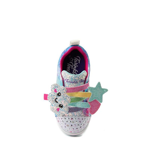 alternate view Skechers Twinkle Toes Sparkle Rays Rainbow Cloud Sneaker - Toddler / Little Kid - MulticolorALT2