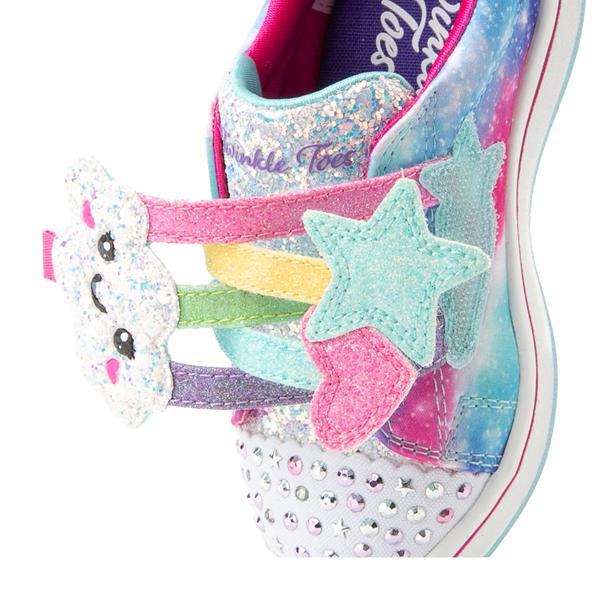 alternate view Skechers Twinkle Toes Sparkle Rays Rainbow Cloud Sneaker - Toddler / Little Kid - MulticolorALT2D