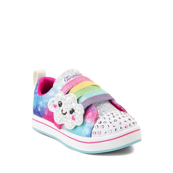 alternate view Skechers Twinkle Toes Sparkle Rays Rainbow Cloud Sneaker - Toddler / Little Kid - MulticolorALT5