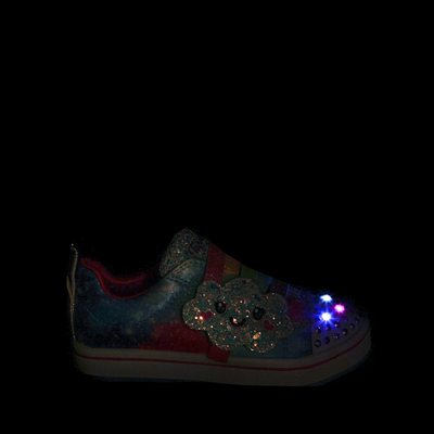 Alternate view of Skechers Twinkle Toes Sparkle Rays Rainbow Cloud Sneaker - Toddler / Little Kid - Multicolor