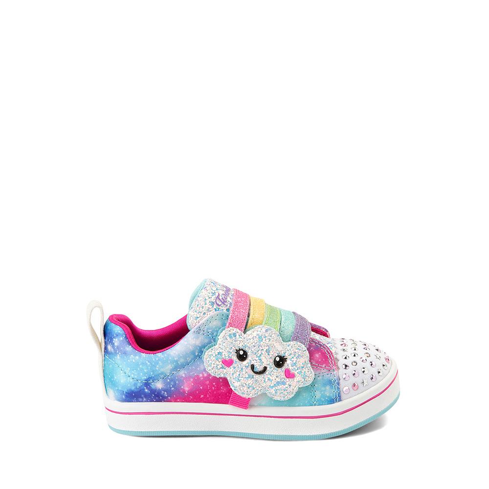 Skechers Twinkle Toes Sparkle Rays Rainbow Cloud Sneaker - Toddler / Little Kid - Multicolor