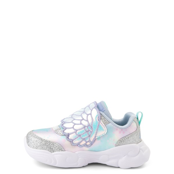 alternate view Skechers Unicorn Storm Wing Dazzle Sneaker - Toddler - SilverALT1