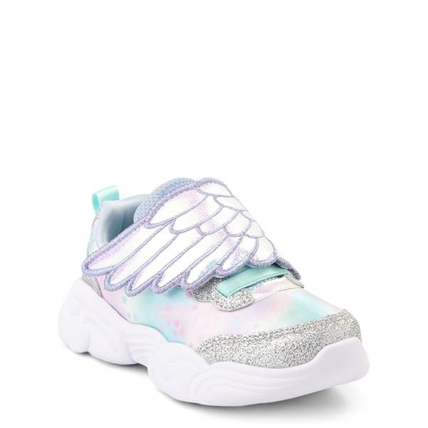 alternate view Skechers Unicorn Storm Wing Dazzle Sneaker - Toddler - SilverALT5