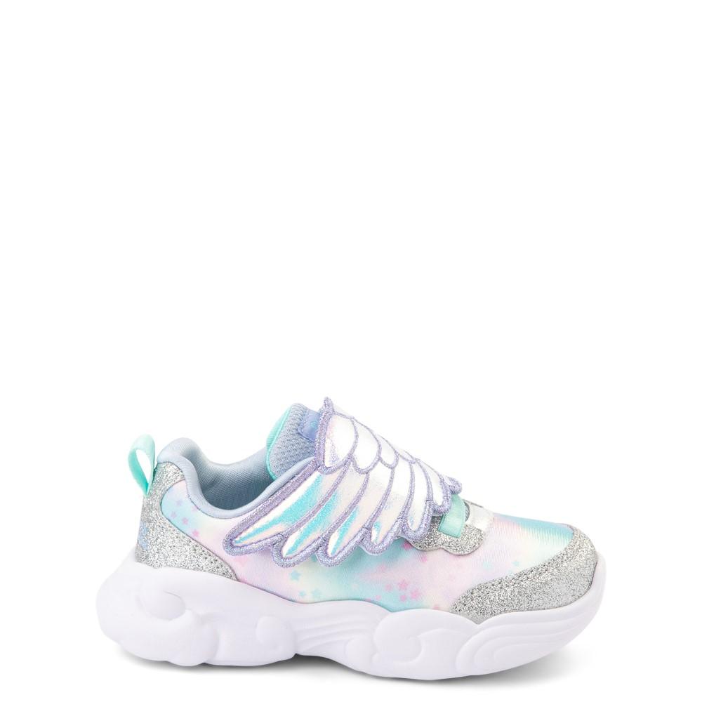 Skechers Unicorn Storm Wing Dazzle Sneaker - Toddler - Silver