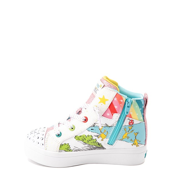 alternate view Skechers x Dr. Seuss Twi-Lites The Sneetches Sneaker - Toddler - White / RainbowALT1B
