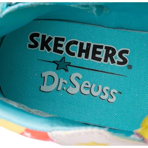 alternate view Skechers x Dr. Seuss Twi-Lites The Sneetches Sneaker - Toddler - White / RainbowALT3B