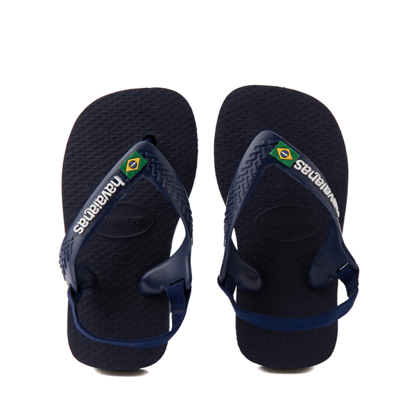 Main view of Havaianas Brazil Logo Sandal - Baby / Toddler - Navy