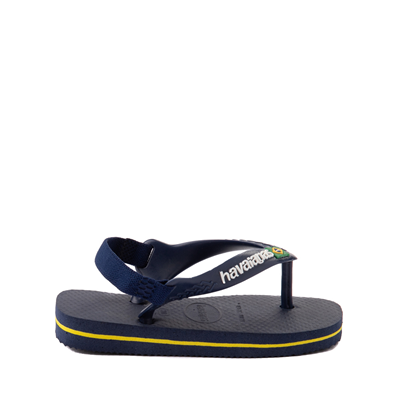 Alternate view of Havaianas Brazil Logo Sandal - Baby / Toddler - Navy