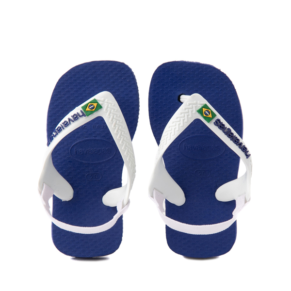 Main view of Havaianas Brazil Logo Sandal - Baby / Toddler - Marine Blue