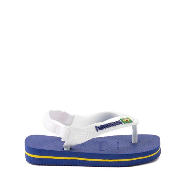 alternate view Havaianas Brazil Logo Sandal - Baby / Toddler - Marine BlueALT1
