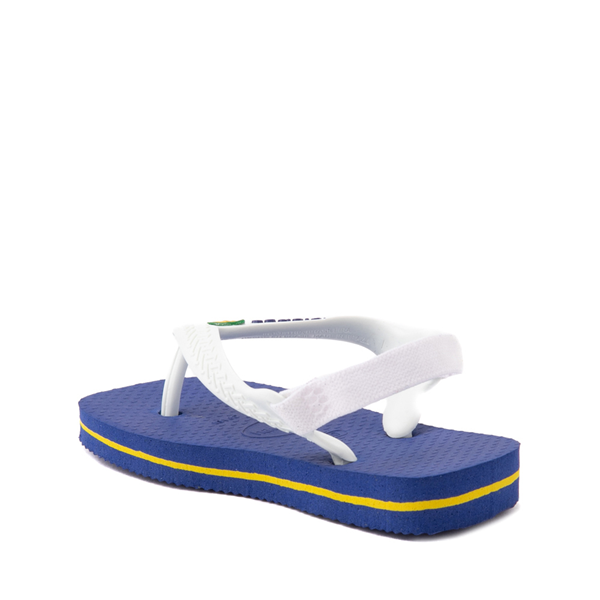 alternate view Havaianas Brazil Logo Sandal - Baby / Toddler - Marine BlueALT1B