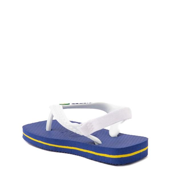 alternate view Havaianas Brazil Logo Sandal - Baby / Toddler - Marine BlueALT2