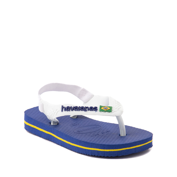 alternate view Havaianas Brazil Logo Sandal - Baby / Toddler - Marine BlueALT5