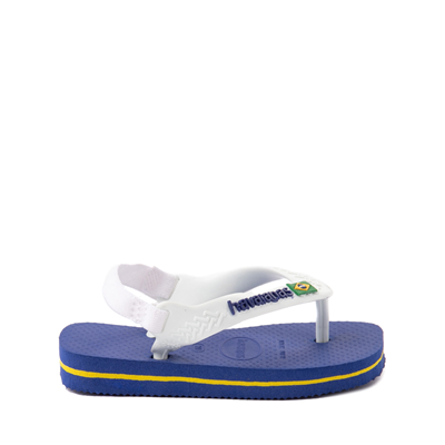 Alternate view of Havaianas Brazil Logo Sandal - Baby / Toddler - Marine Blue