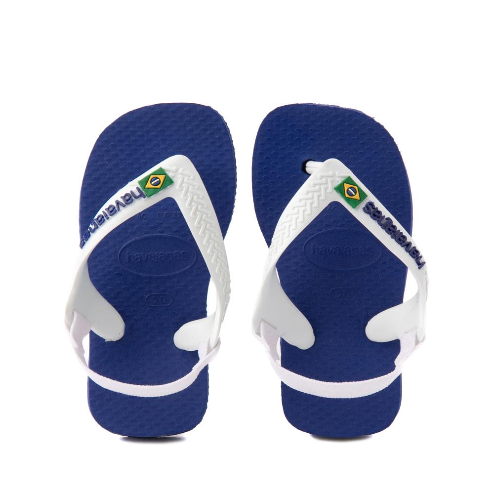 Havaianas Brazil Logo Sandal - Baby / Toddler - Marine Blue
