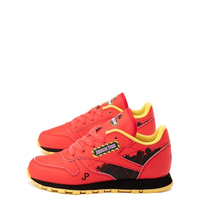 Alternate view of Reebok x Jurassic Park Classic Leather Athletic Shoe - Little Kid - Red