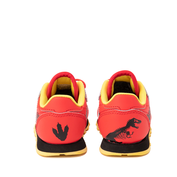 alternate view Reebok x Jurassic Park Classic Leather Athletic Shoe - Baby / Toddler - RedALT4