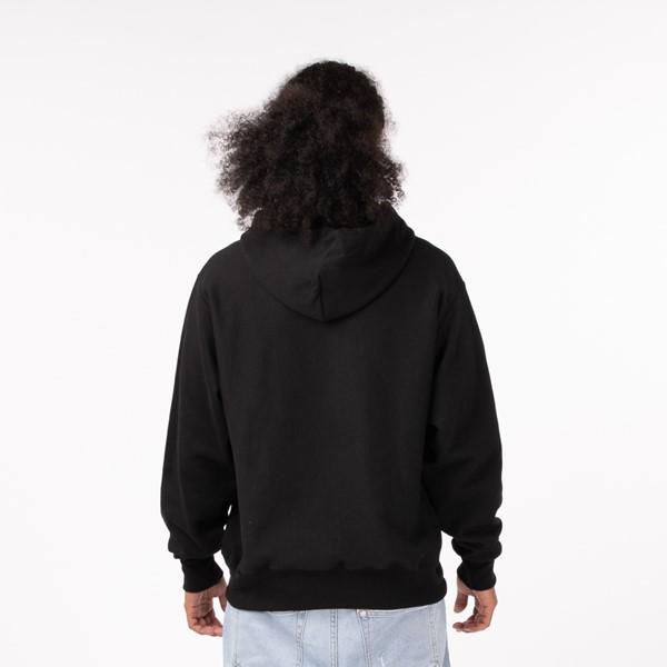 alternate view Mens Champion Reverse Weave Script Hoodie - BlackALT1B