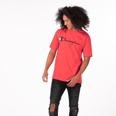 Alternate view of Mens Champion Heritage Tee - Red