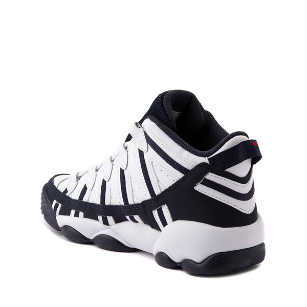 alternate view Fila Stackhouse Spaghetti Athletic Shoe - Big Kid - White / Navy / RedALT1